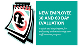 30 and 60 Day Evaluation Form for New Staff Members