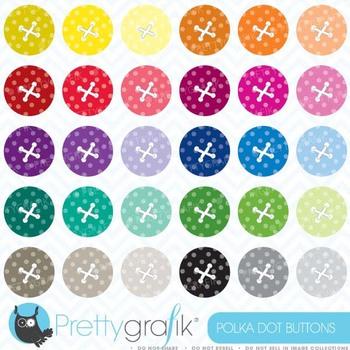 30 button clipart commercial use, vector graphics, digital clip art - CL469