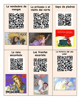 30 codigos de QR leyendas y fabulas/legends and fables Spanish QR codes