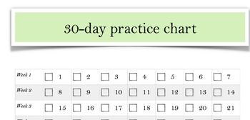 30 day practice chart
