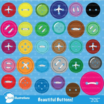 Button Clipart, Colored Buttons, {Best Teacher Tools} AMB-304
