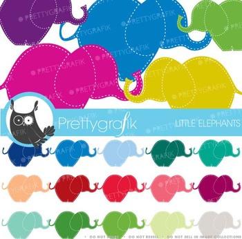 30 elephant clipart commercial use, vector graphics, digital clip art - CL462