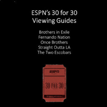 30 for 30 Bundle: Five Viewing Guides for the ESPN Series