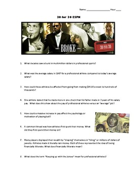 30 30 For 30 Broke Worksheet Answers - Worksheet Resource ...