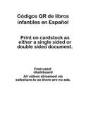 30 códigos QR de libros infantiles 30 QR codes for picture