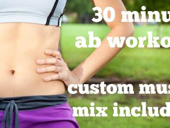 30 minute non-stop Ab Exercise routine with photos and music included