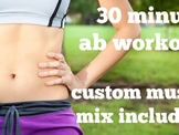 30 minute non-stop Ab Exercise routine with photos and mus