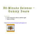 30 minute science experiment lab report- gummy bear