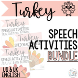 30% off for 24 hrs- Turkey Speech Sound Activities- Thanks