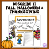 Descriptive Language for Fall, Halloween and Thanksgiving