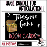 Articulation Boom Cards™ Treasure Game BUNDLE Speech Therapy Distance Learning