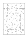 30 piece jigsaw template on A4