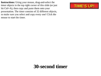 30 second powerpoint countdown timer by dennis hong tpt