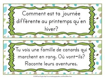 30 sujets d'écriture pour le printemps - spring-themed writing prompts - French