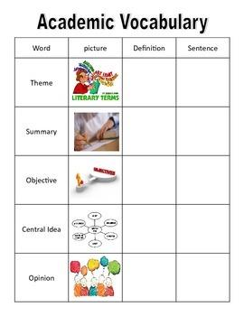 30 weeks of Academic Vocabulary