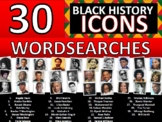 30 x Black History Month Famous People Icons Wordsearches Wordsearch Keywords