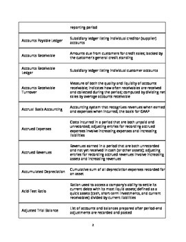 300+ Accounting Terms and Definitions (Handout / Study Aid)