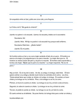300+ Chistes: Jokes for Spanish Class