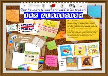 Library Poster Hi Res -  Jez Alborough UK Author/Illustrator Of Picture Books