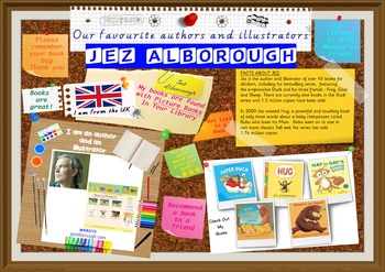 Poster -  Jez Alborough UK Author/Illustrator Of Picture B