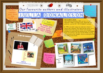 Poster - Julia Donaldson UK Author Of Picture Books Print