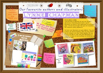 Poster -  Lynne Chapman UK Author/Illustrator Of Picture B