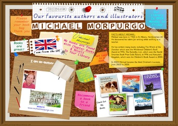 Library Poster Hi Res- Michael Morpurgo Author Of Chapter Books & Novels