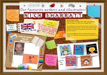 Library Poster Hi Res -  Nick Sharratt UK Author/Illustrator Of Picture Books
