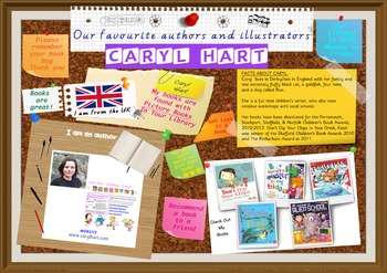 Poster - Caryl Hart UK Of Author Picture & Chapter Books Print Your Own