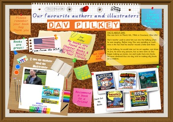 Poster - Dav Pilkey Author Of Captain Underpants Graphic Novels