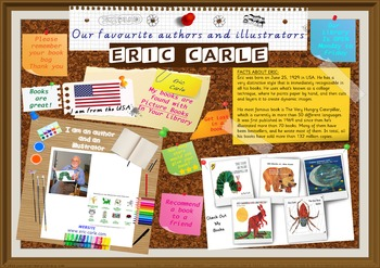 Library Poster Hi Res - Eric Carle Author/Illustrator Very Hungry Caterpillar
