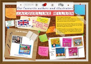 Poster - Jacqueline Wilson UK Author Picture Chapter Bks Novels