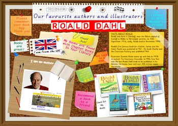Poster - Roald Dahl Author Of Chapter Books & Novels Print Your Own