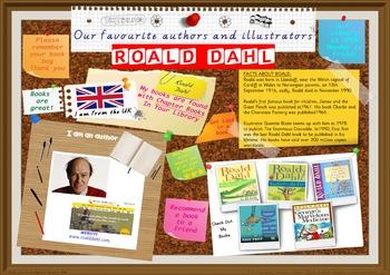 Library Poster Hi Res - Roald Dahl UK Author Of Chapter Books & Novels
