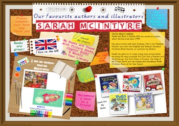 Poster - Sarah McIntyre Author/Illustrator Of Picture Bks Print Your Own