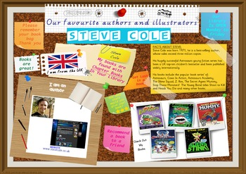Poster - Steve Cole UK Author Of Chapter Books Print Your Own