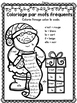 Free FRENCH Christmas colour by sight word sheets