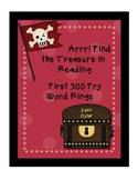 300 Fry Word Lists and Word Rings - Pirate Theme