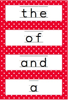 Sight Word Activities (for the 300 most frequent words)!