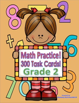 Fall review  Math Task Cards Grade 2 Common Core!