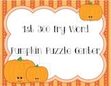 300 Pumpkin Sight Word Puzzles
