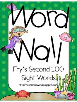 300 Sight Words - Under the Sea