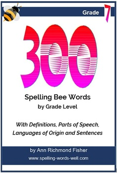 300 Spelling Bee Words for 7th Grade