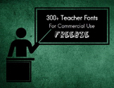 300+ Teacher Fonts for Commercial Use (Public Domain)