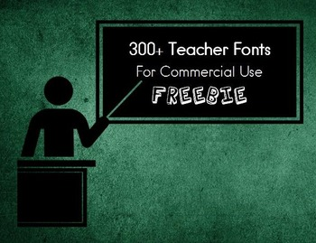 300+ Teacher Fonts for Commercial Use (Public Domain)