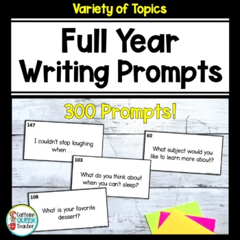 Writing Prompts - Huge 300 Prompt Kit for Daily Writing