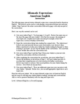 3007 Movers and Shakers - American Idiomatic Expressions Conversation Role Play