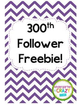 300th Follower Freebie