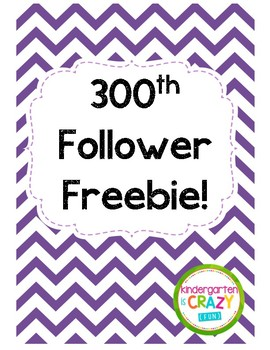 300th Follower Freebie