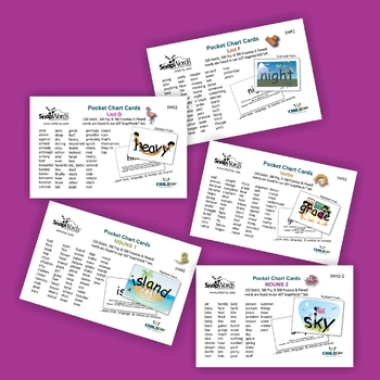 301 SnapWords® Sight Word Pocket Chart Cards